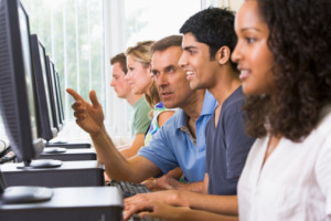 MOOCs (massive open online courses) are one of the hottest topics in higher education.  (Image source: Thinkstock)