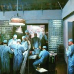The First Successful Kidney Transplantation. Oil on canvas. (Image source: Anesthesia & Analgesia [figure 3])